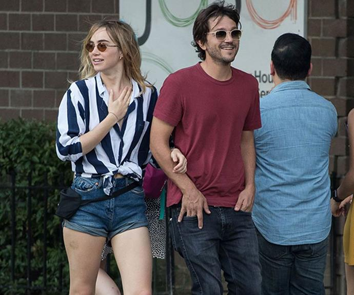 **Diego Luna: 2016 – 2017** <br><br> Waterhouse met Mexican actor Diego Luna on the set of 2016 movie *Bad Batch* and they dated for over a year.