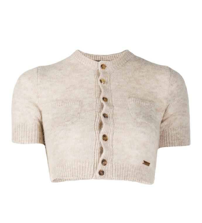 """'Cropped Knitted Cardigan' by Dsquared2, $690 at [NET-A-PORTER](https://www.farfetch.com/au/shopping/women/dsquared2-cropped-knitted-cardigan-item-15407561.aspx?storeid=10381