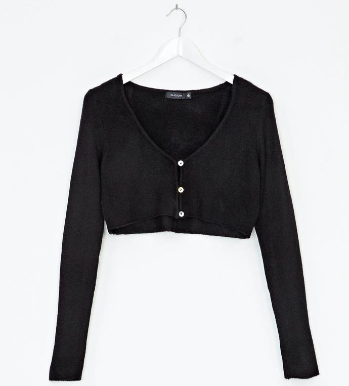 """'Cropped Knit Cardigan', $29.99 at [Glassons](https://www.glassons.com/cropped-knit-cardigan-kc46105knt-black