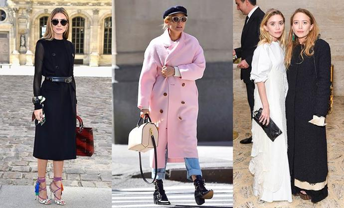 **THE FASHION RICH GIRL** <br><br> **Style icons:** Olivia Palermo, Diane Kruger and Mary-Kate and Ashley Olsen. <br><br> **The look:** Always up to date and wearing the latest trends off the runway, the fashion rich girl balances her more current pieces with elegant, understated classics. Think blazers worn over the shoulder, statement accessories, brightly coloured outerwear, delicate strappy sandals and new-season handbags with silk basics and tailored pants or skirts.