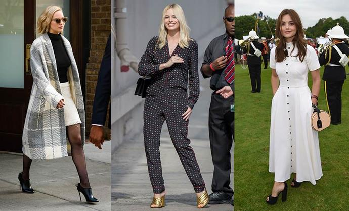 **THE LOW-KEY RICH GIRL** <br><br> **Style icons:** Jennifer Lawrence, Margot Robbie and Jenna Coleman. <br><br> **The look:** This rich girl has plenty of expensive clothing but she doesn't necessarily want to look unattainable. She's all about dressing for comfort and looking age-appropriate, as well as mixing her investment pieces with fun, current, playful items from up-and-coming brands. Think pyjamas as outerwear, cosy designer coats, breezy midi dresses and designer mules.