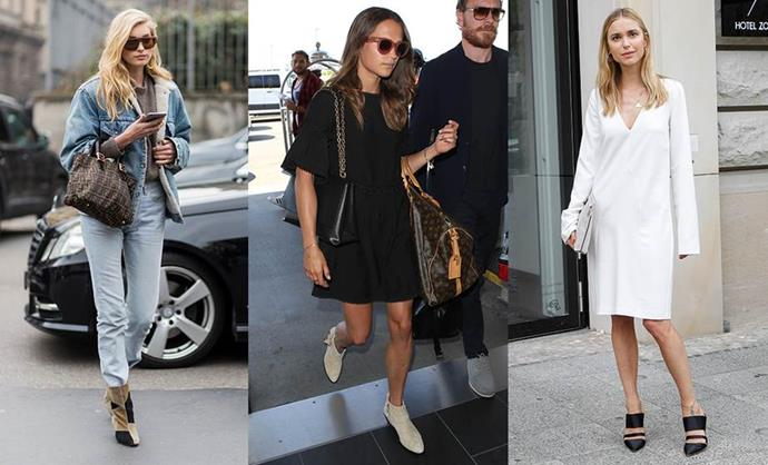 **THE SCANDI RICH GIRL** <br><br> **Style icons:** Elsa Hosk, Alicia Vikander and Pernille Teisbaek. <br><br> **The look:** Minimalism is key, but only when it comes to the colours and textures you choose. Scandi rich girls have a year-round summer glow, long, luscious hair and a wardrobe full of enviable, versatile staple pieces. Think vintage denim that fits perfectly, white linen, a relaxed LBD, quality leather sandals and earth tones.