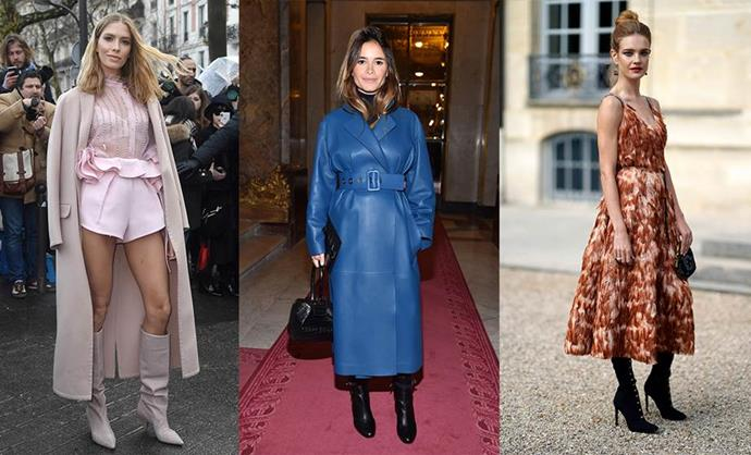 **THE RUSSIAN RICH GIRL** <br><br> **Style icons:** Elena Perminova, Miroslava Duma and Natalia Vodianova <br><br> **The look:** The vibe is entirely impractical and ridiculously luxurious. One of the least attainable rich girl archetypes, these Russian style queens are unafraid of donning the season's most challenging trends as street wear and are not deterred by difficult fabrics or silhouettes. Leather trench coats, hot pants, feathered dresses, thigh-high suede boots and diamonds as day-wear are all on the menu.