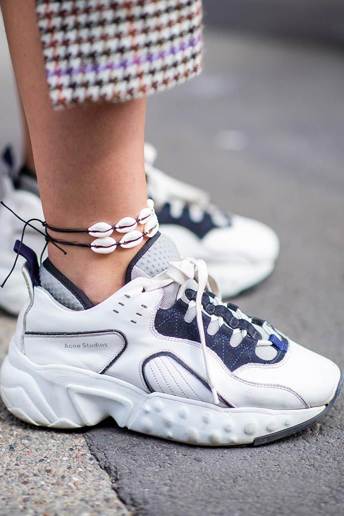 ***Out: Chunky Sneakers***<br><Br> Whatever your preferred moniker: 'Dad' sneakers, adventure sneakers, chunky sneakers, the answer is the same. Fashion is almost over them. Shelve (or re-sell…) anything with exaggerated platforms, flashy colour-clashing or thick tongues and make way for…