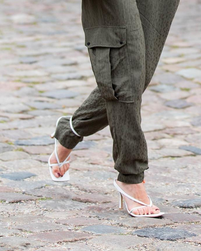 ***In: Heeled Thongs***<br><br> We know, we know. 'Thongs with heels' doesn't *sound* like a particularly appetising prospect but believe us when we say you'll thank us later. Whether the classic iteration via Totême or a more strapped-up option by Bottega Veneta, they're the 2019 update to the barely-there sandal.