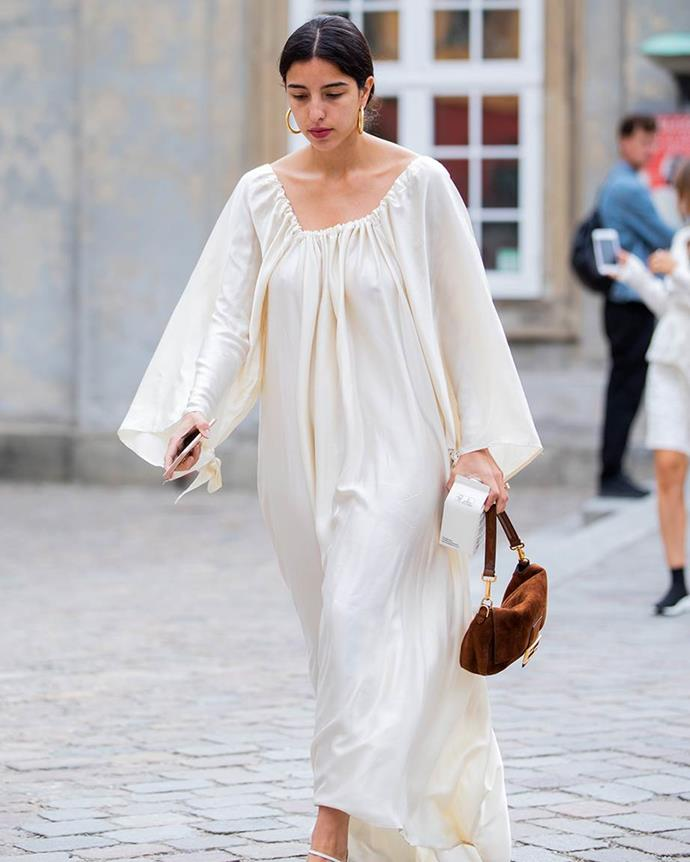 ***In: Voluminous Dresses***<br><br> Long or short, full-sleeves or capped, dresses in 2020 should be *big.* Think layers, tiers, wide waists and billowing tented shapes. The bigger the dress, the closer to chicness.