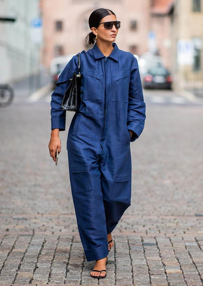 ***Out: Boilersuits***<br><br> We hate to eliminate one of the only one-and-done pieces in our wardrobes, but utilitarian boilersuits are on the way out.