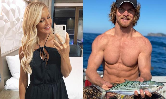 """**Ali Oetjen and Nick """"Honey Badger"""" Cummins**<br><br>  [Ali Oetjen and Honey Badger](https://www.marieclaire.com.au/honey-badger-ali-oetjen-dating-rumours