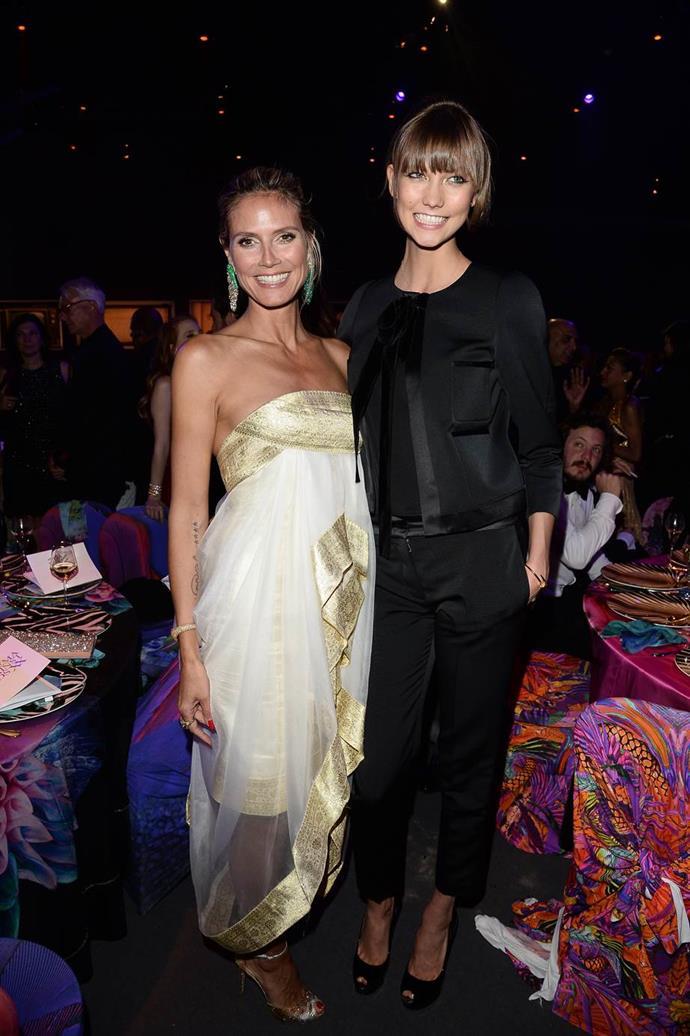 With Heidi Klum.