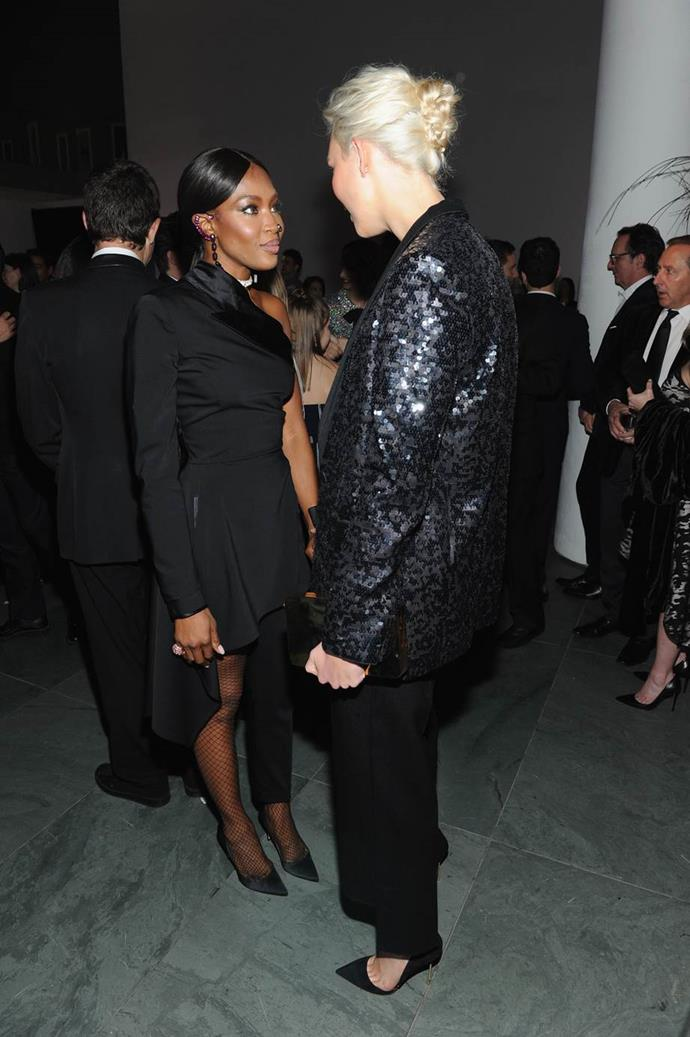 With Naomi Campbell.