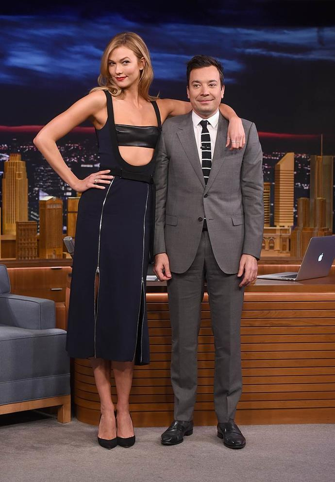 With Jimmy Fallon.