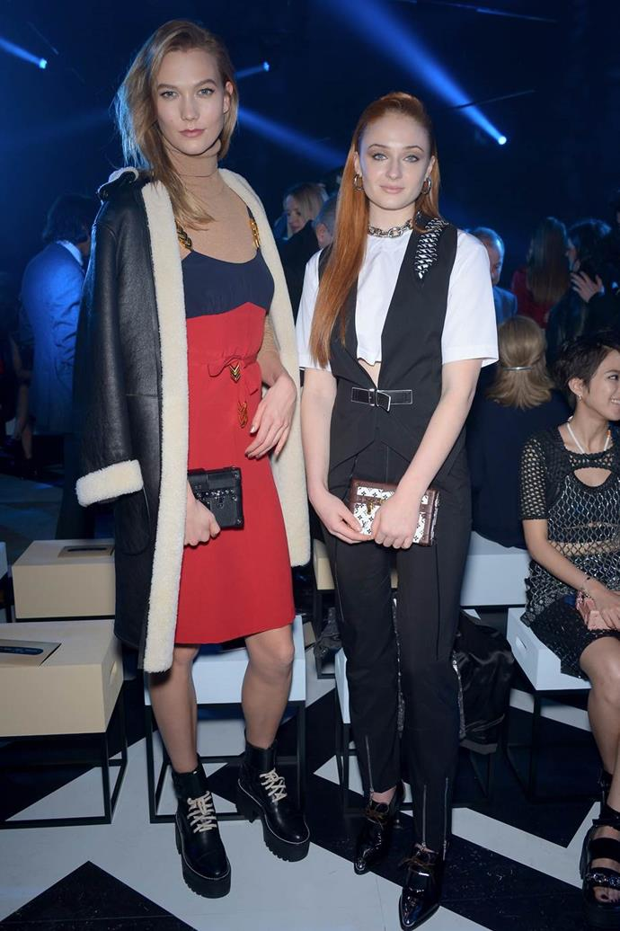 With Sophie Turner.