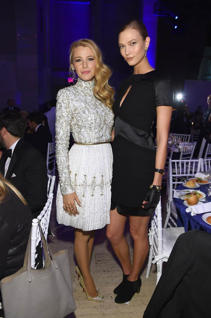 With Blake Lively.
