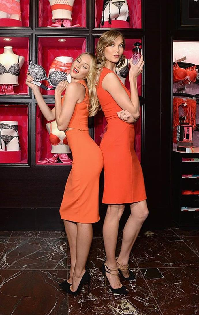 With Candice Swanepoel.