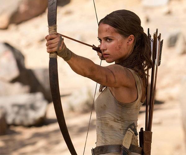 Alicia Vikander in *Tomb Raider*.