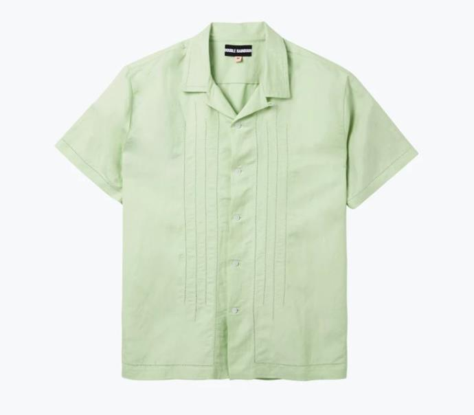 """Mint Embroidered Shirt, $185 by [Double Rainbouu](https://www.doublerainbouu.com/collections/womens-all/products/mint-ss-shirt
