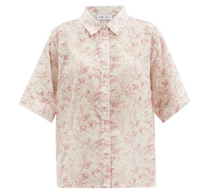 """Caprice Shirt, $190 by [SIR The Label](https://sirthelabel.com/products/caprice-shirt