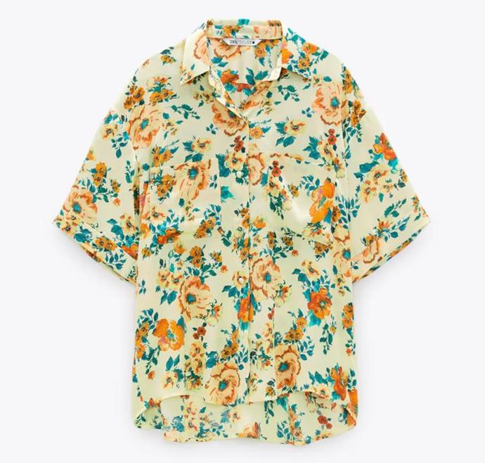 "Floral Print Shirt, $69.95 by [Zara](https://www.zara.com/au/en/floral-print-shirt-p02183247.html?v1=56162413&v2=1277472|target=""_blank""|rel=""nofollow"")."