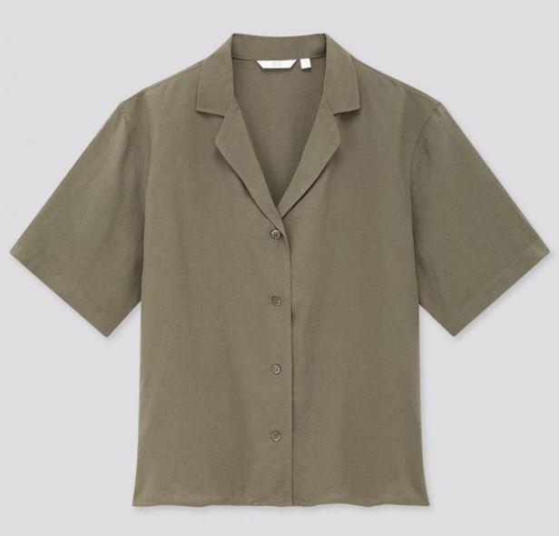 "Linen Blend Open Collar Short Sleeve Shirt, $39.90 by [Uniqlo](https://www.uniqlo.com/au/store/women-linen-blend-short-sleeve-shirt-4254680032.html?gclid=Cj0KCQjwoJX8BRCZARIsAEWBFMIEReC8C94_J93Id7FrwFh8rPNtYnF7sOGqlHjuhnA_et5ogD0Q8RYaAnPEEALw_wcB#more_views|target=""_blank""|rel=""nofollow"")."