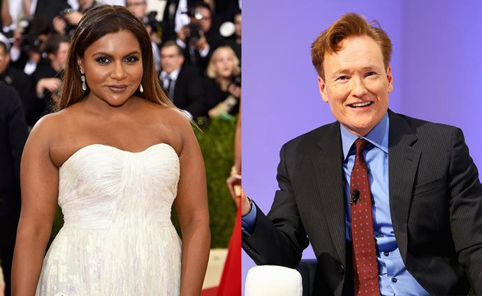 "**Mindy Kaling** <br> *Former celebrity employer:* Conan O'Brien <br><br> As a fresh-faced 19-year-old student, Mindy Kaling [was an intern](https://www.youtube.com/watch?v=e7f-R5ipL30&feature=youtu.be|target=""_blank""