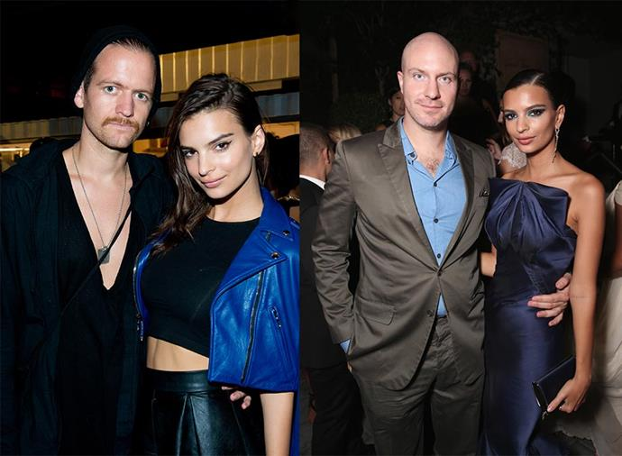 Ratajkowski with Andrew Dryden (left) and Jeff Magid (right).