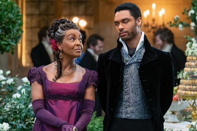 Regé-Jean Page (right) as the Duke of Hastings in *Bridgerton*. Image courtesy of Netflix.