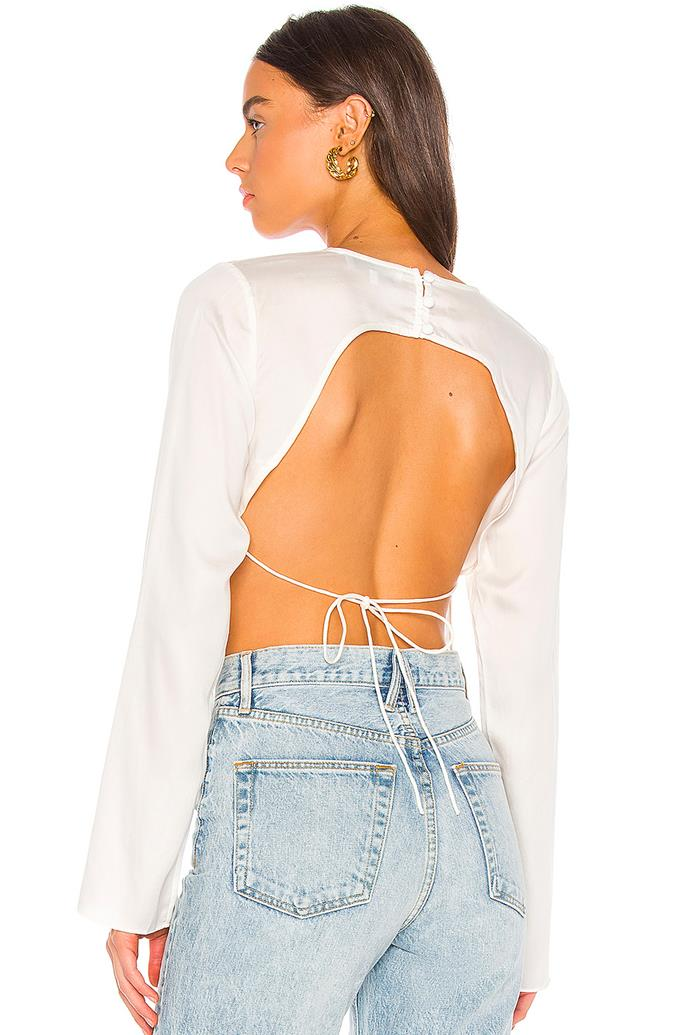 """'The Anya Top' by L'Academie, $232.84 at [Revolve](https://www.revolveclothing.com.au/lacademie-the-anya-top/dp/LCDE-WS657/?d=Womens&page=1&lc=83&itrownum=21&itcurrpage=1&itview=05