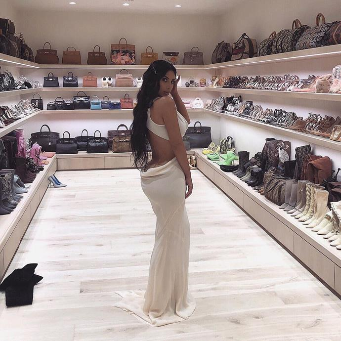 **Kim Kardashian-West** <br><br> Kim Kardashian's collection of Birkin bags is perhaps the most sizeable of her entire family. While she's relatively coy about sharing pictures inside her palatial house, what she has shared are pictures of her handbag closet—including Hermès Birkins in almost every size, leather and finish on the market.
