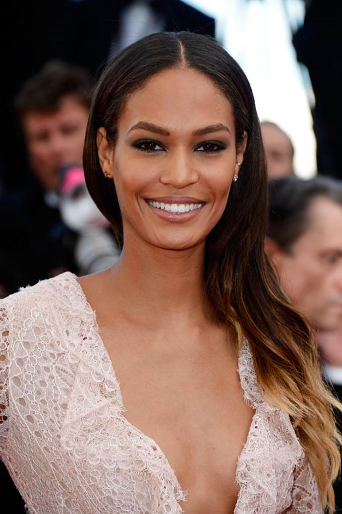 <strong>Joan Smalls</strong> <br>The Puerto Rican high fashion favourite was raised as Joan Smalls Rodriguez, but dropped her last name when her career began to sky rocket.