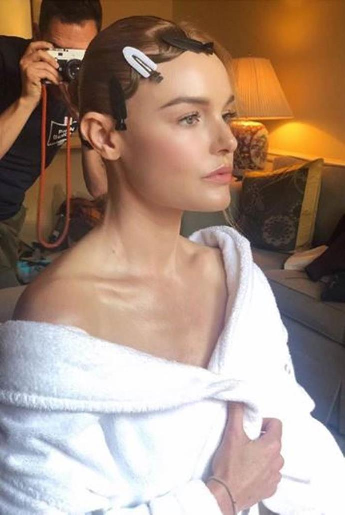 """**PRE-MAKEUP PREP** <br><br> Before an event, Bosworth turns to face masks, telling her Instagram followers, """"I feel like prepping the skin is one of the most important aspects of getting naturally glowing foundation and blush."""" One of her favourites is from U.S. brand [ToGoSpa](https://www.togospa.com/