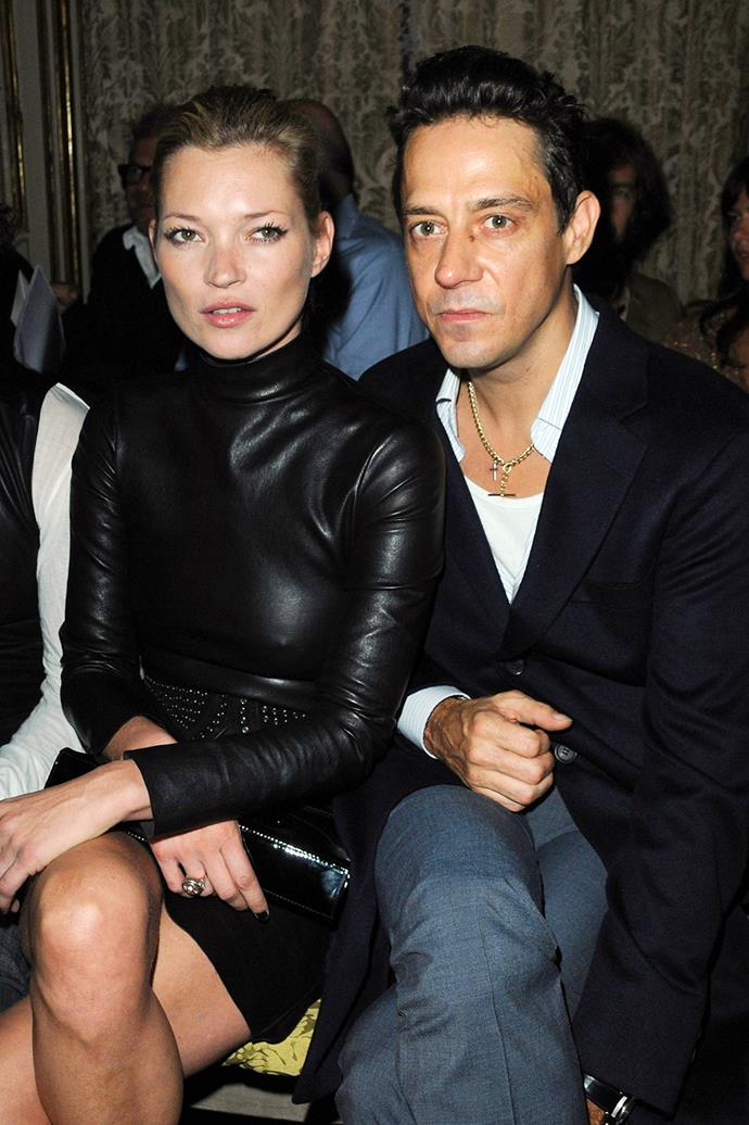 **Kate Moss and Jamie Hince**  <br><br> After a string of musical relationships, Kate Moss settled down with The Kills frontman Jamie Hince and the two were married from 2008. The pair ultimately chose to go their separate ways in 2016.