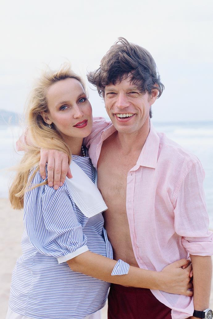 **Jerry Hall and Mick Jagger**  <br><br> One of rock 'n' roll's most famous love stories, Jerry Hall and Mick Jagger were together from 1977 to 1999 and were married in an unofficial ceremony in Bali in 1990. Sadly their marriage was annulled nine years later.