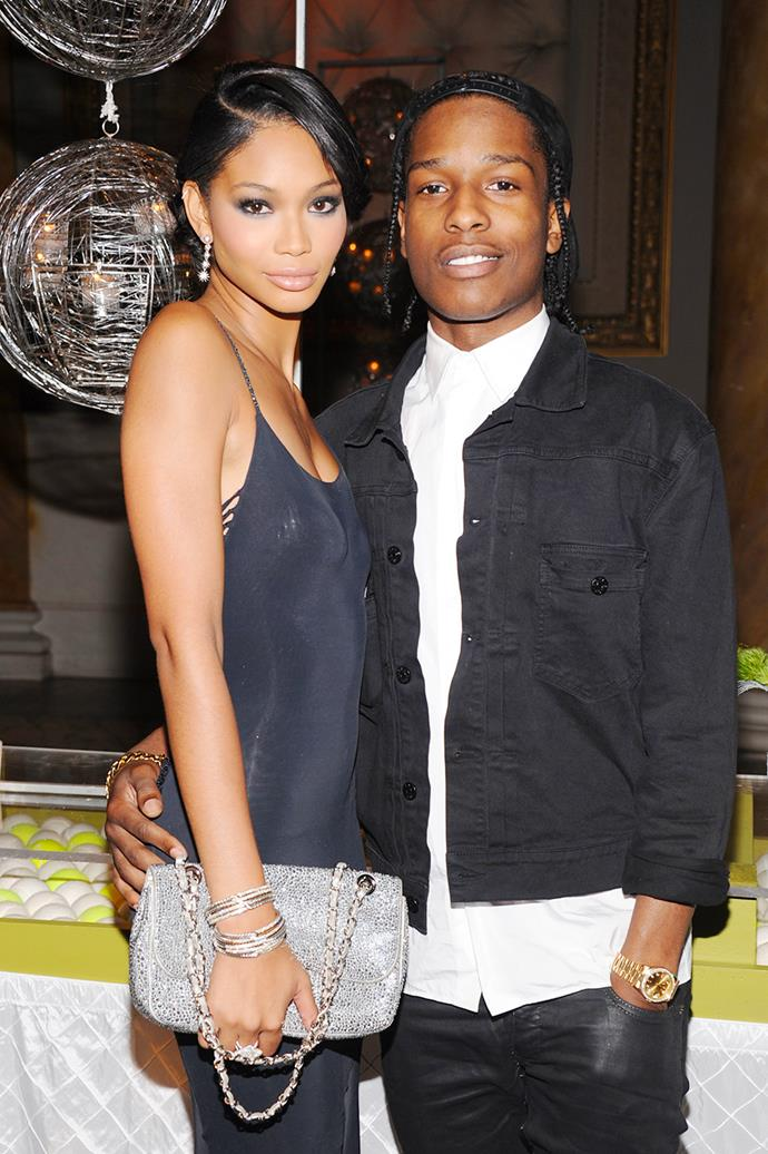 """**A$AP Rocky and Chanel Iman** <br><br> In early 2013, Iman began dating rapper A$AP Rocky, and by 2014 the couple were rumoured to be [engaged](http://www.elle.com.au/news/celebrity-news/2014/4/aap-rocky-and-chanel-iman-engaged