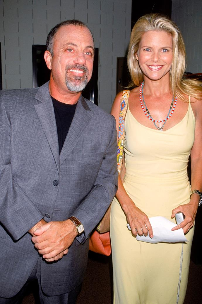 **Billy Joel and Christie Brinkley**  <br><br> As celebrity meet-and-greets go, Joel and Brinkley's first encounter happened in St. Bart's, in early 1983. By 1985, the couple wed in New York Harbour while aboard a 147-foot yacht. The couple also welcomed daughter Alexa Ray in 1985. Sadly, by 1994, Joel and Brinkley had split.
