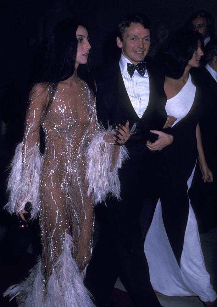 """**Bob Mackie and Cher** <br><br> Unlike other entrants on this list, Mackie is a costume designer rather than a bona-fide fashion designer, and created garments for the likes of Diana Ross and Marilyn Monroe. His work with Cher, however, now has a place in fashion history, from the sheer dress she wore to the 1974 Met Gala (pictured) to the beaded see-through gown she wore to accept her Oscar in 1988 (let alone, designing hundreds of her costumes for *The Sonny & Cher Show*). <br><br> In a 2019 interview with [*Harper's BAZAAR* U.S.](https://www.harpersbazaar.com/fashion/designers/a26029031/bob-mackie-cher-show-interview/ target=""""_blank"""" rel=""""nofollow""""), Mackie said of the famous Met Gala dress: """"All of a sudden [celebrities] were coming up to Cher and telling her, 'We were inspired by your dress!' And they'd go online and look at all these old outfits of hers I designed. I'd forgotten about most of them!"""""""