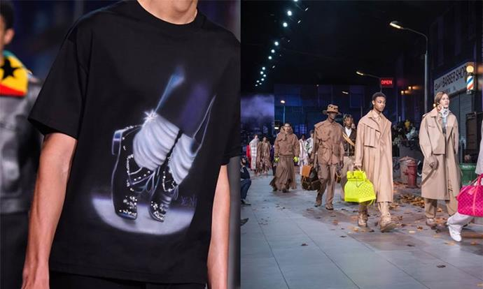 """**Louis Vuitton Menswear autumn/winter '20 (2019)** <br><br> While Louis Vuitton Menswear creative director Virgil Abloh's Michael Jackson-themed collection was undoubtedly cool, it was struck by a case of bad timing—dropping around the same time as the *Leaving Neverland* documentary, which included new allegations of sexual abuse levelled at the late star. <br><br> Louis Vuitton removed certain garments with overt references to Jackson from stores. Abloh later said his intention was only """"to refer to Michael Jackson as a pop culture artist"""", and told *[WWD](https://wwd.com/fashion-news/fashion-scoops/louis-vuitton-addresses-michael-jackson-controversey-1203084577/