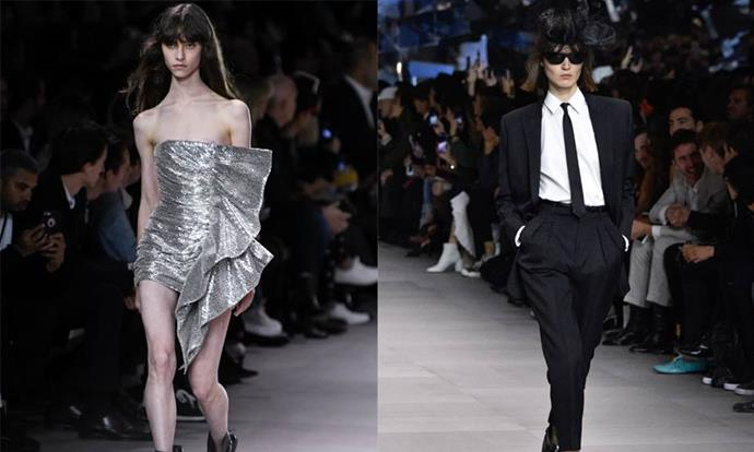 """**Celine spring/summer '19 (2018)** <br><br> Ex-YSL creative director Hedi Slimane's reinvention of Celine was one of the most anticipated shows on the fashion month roster, and drew an unexpectedly divided response. While some appreciated the club-ready collection, others considered it too dramatic a departure from the work of ex-creative director, Phoebe Philo, whose collections garnered acclaim. <br><br> Following the show, the reclusive designer spoke out in a rare response to the backlash, and claimed """"latent homophobia"""" could be a reason for the criticism. <br><br> *Images: Getty*"""