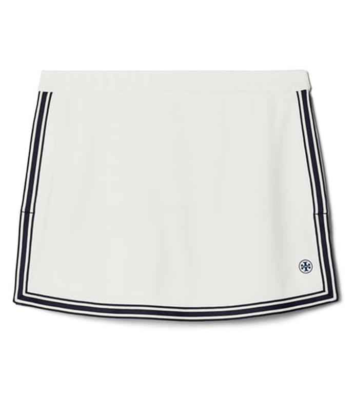 "'Side-Slit Tennis Skirt', $193.90 at [Tory Burch](https://www.toryburch.com/side-slit-tennis-skirt/73475.html?color=047&utm_source=RAN&utm_medium=affiliates&utm_content=2116208&utm_campaign=Skimlinks.com&ranMID=43625&ranEAID=2116208&ranSiteID=TnL5HPStwNw-FF5_IOCXbFfLRIXmyzSyUQ|target=""_blank""|rel=""nofollow"")."