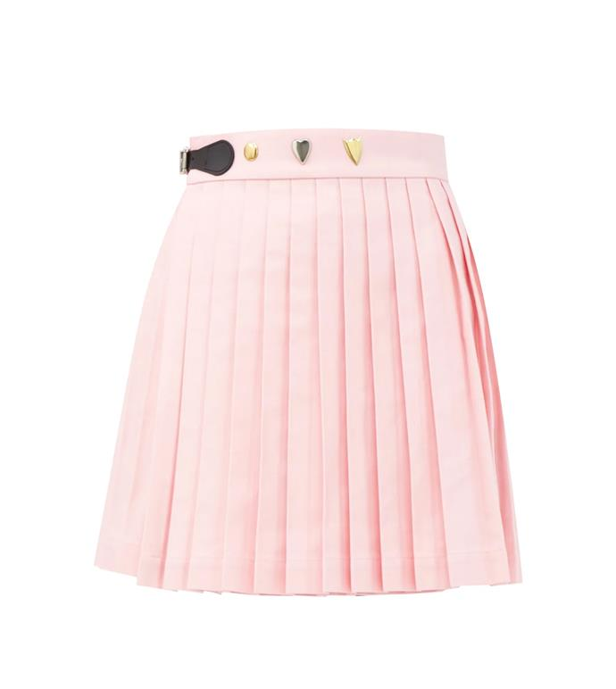 """'Knife-pleated cotton-twill mini wrap skirt' by Charles Jeffrey Loverboy, $688 at [Matches Fashion](https://www.matchesfashion.com/au/products/Charles-Jeffrey-LOVERBOY-Knife-pleated-cotton-twill-mini-wrap-skirt-1369954