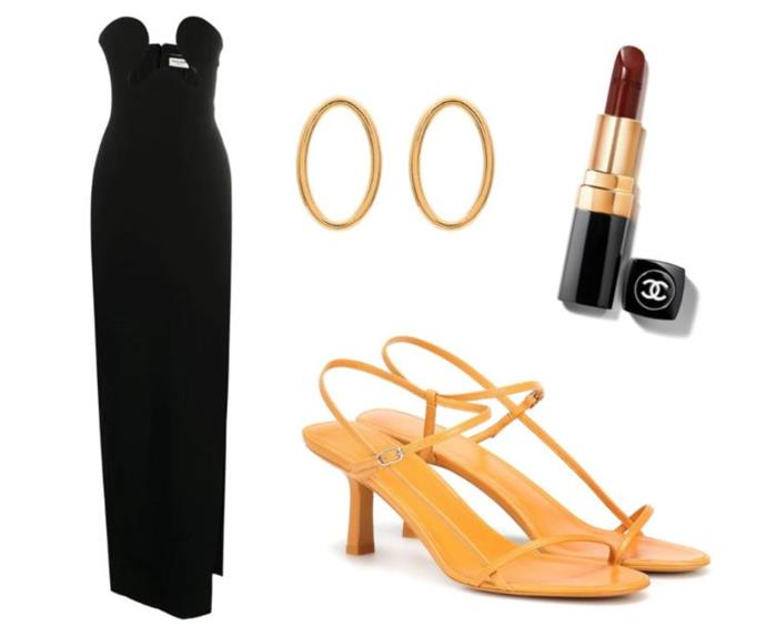 """""""The impression I've always gotten from past rose ceremony fashion is that it's all about *allure*. That's why I'd go for this risqué Saint Laurent number (in my dreams). It may be a classic colour and silhouette, but the daring neckline gives it a little more intrigue... I get to keep the dress, right?"""" <br><br> — *Pema Bakshi, digital writer* <br><br> Bustier Strapless Side Split Dress by Saint Laurent, $7,005 at [Farfetch](https://www.farfetch.com/au/shopping/women/saint-laurent-bustier-strapless-side-slit-dress-item-15705391.aspx?storeid=12542