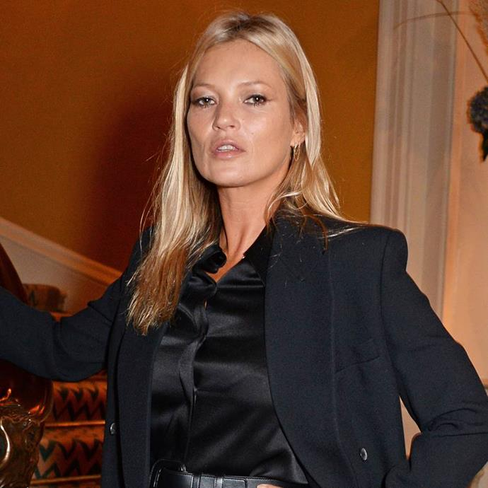 """**SHE HAS FINETUNED AN EXPENSIVE BUT EFFECTIVE SKINCARE ROUTINE** <br><br> While the supermodel's approach to skincare may have been a little negligent in the past, she has most definitely fine-tuned her routine in the years since, particularly since partnering with prestige skincare cosmetics brand Decorte. <br><br> Recently spilling her current go-to routine to [*Evening Standard*](https://www.standard.co.uk/lifestyle/esmagazine/kate-moss-shares-her-morning-skincare-routine-a3970506.html target=""""_blank"""" rel=""""nofollow""""), Moss detailed the exact products she uses day-to-day."""