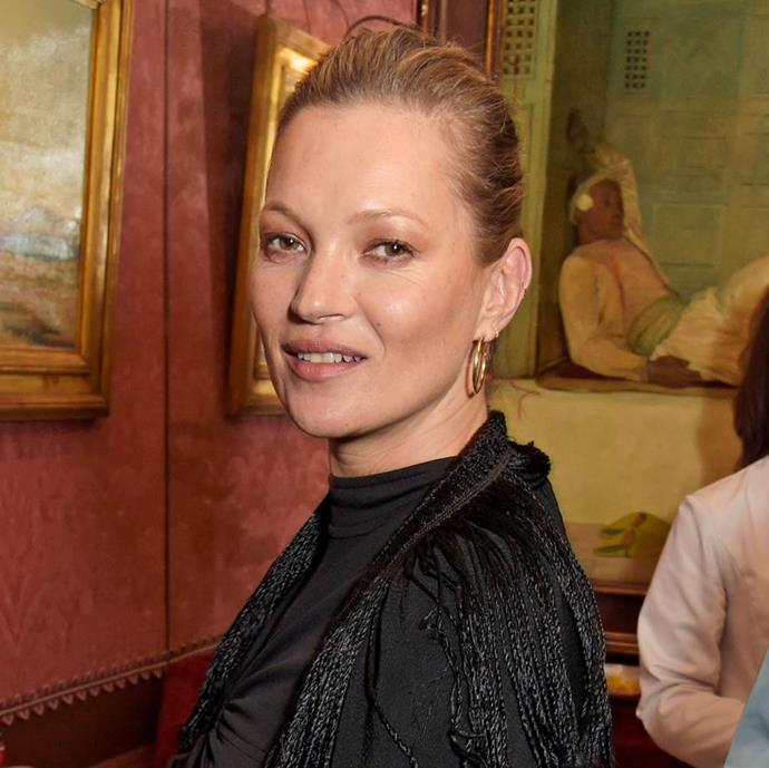"""**SHE WORKS REGULAR FACIALS INTO HER SKINCARE ROUTINE** <br><br> """"I'll book an appointment with Nichola Joss for a facial,"""" she told [*Telegraph UK*](https://www.telegraph.co.uk/beauty/people/kate-moss-beauty-tips/ target=""""_blank"""" rel=""""nofollow""""). """"She does this facial massage for lymphatic drainage using Sanctuary Spa Wonder Oil Serum. It's like getting a natural facelift."""""""