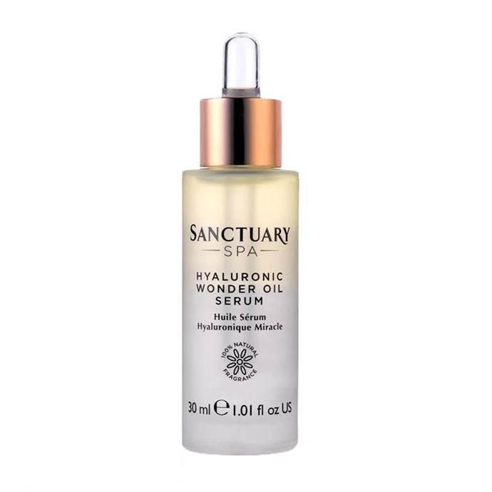 """**SHOP KATE'S SKINCARE HEROES**  <br><br> Sanctuary Spa Hyaluronic Wonder Oil Serum, $36 at [Feel Unique](https://www.feelunique.com/p/Sanctuary-Spa-Hyaluronic-Wonder-Oil-Serum-30ml target=""""_blank"""" rel=""""nofollow"""")"""