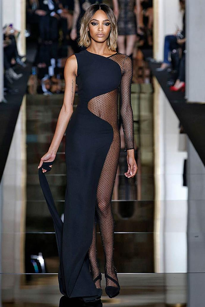 **Versace Couture spring/summer '15**<br><br>  For spring/summer '15, Versace presented some of their slinkiest looks in history, seen here on supermodel Jourdan Dunn.