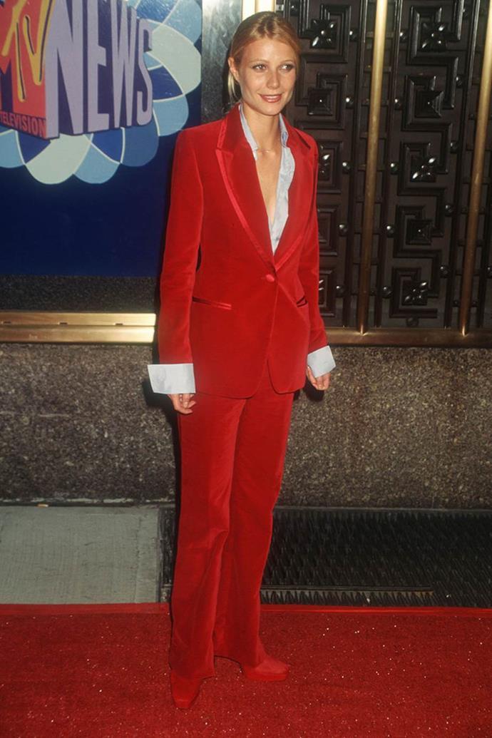 Gwyneth Paltrow in Gucci at the 1996 MTV VMA's.