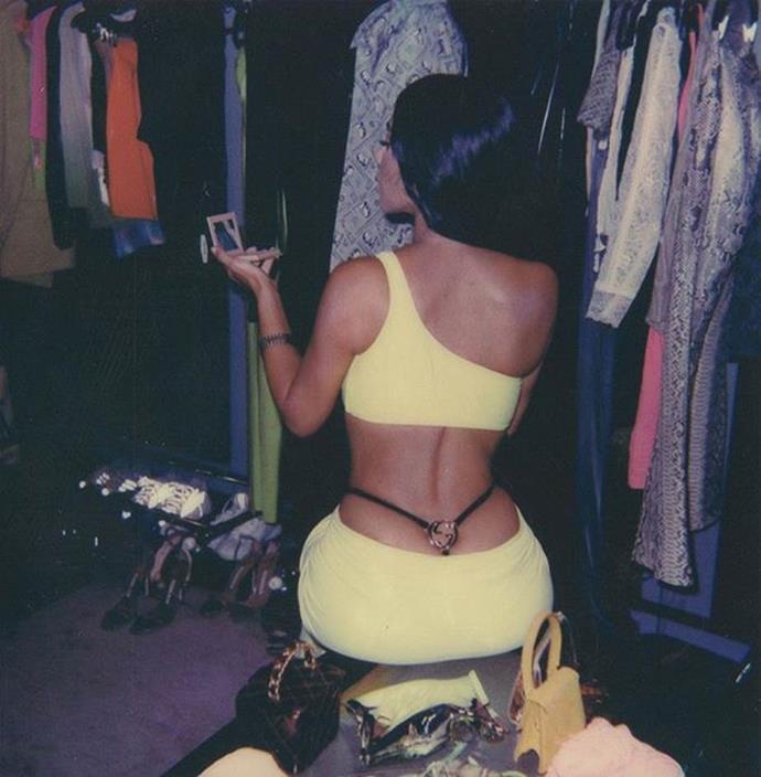 "Kim Kardashian West in a Gucci G-string in 2018 <br><br> *Image: [Instagram](https://www.instagram.com/p/Bmw6iyPF0DN/?taken-by=kimkardashian|target=""_blank"")*"