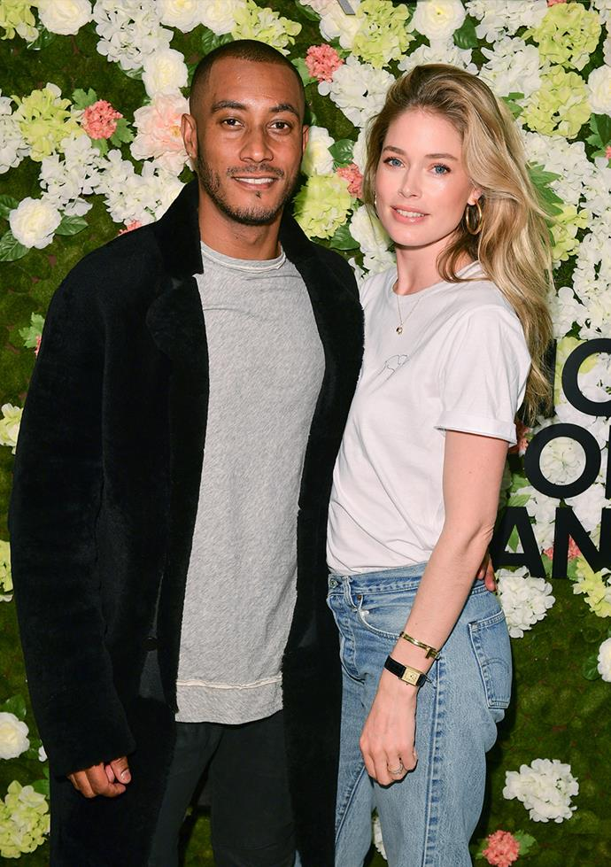 "**Doutzen Kroes and Sunnery James** <br><br> The pair met in Miami when James was out with friends for his birthday. The DJ says of his wife, ""I feel so proud when I see her on the catwalk. I can't really describe it, it's an amazing moment. I see her looking at me when she walks the catwalk and I just think, 'Wow, you're doing it again'. She's a power woman."""
