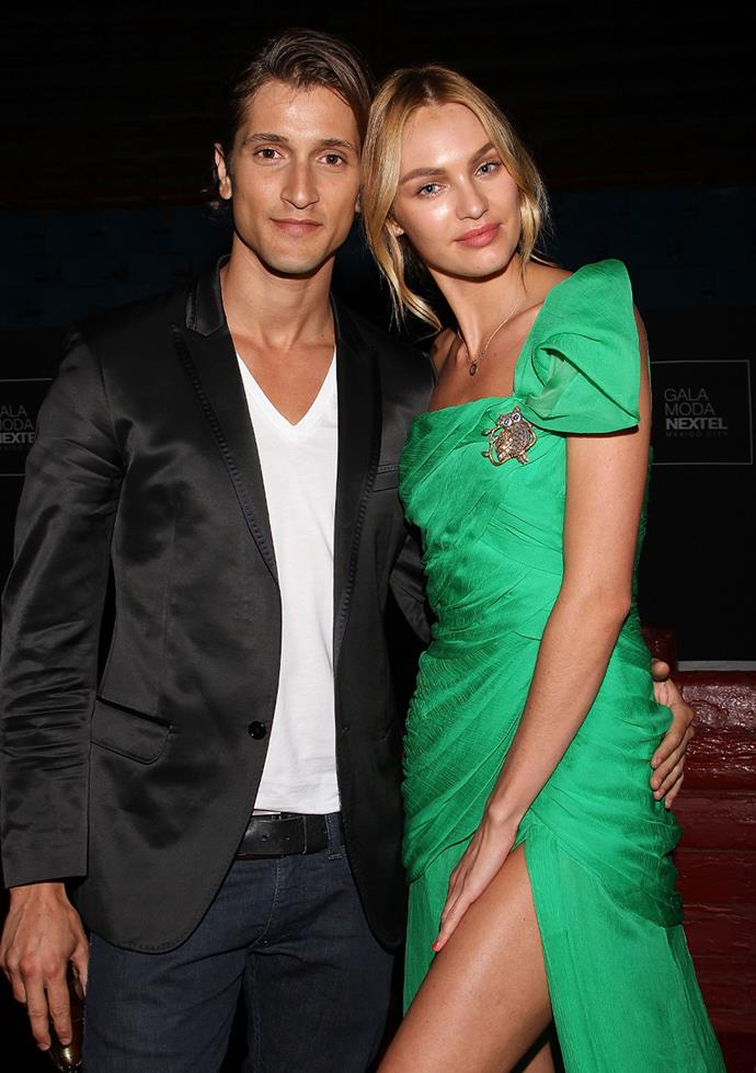 "**Candice Swanepoel and Hermann Nicoli** <br><br> The former couple met in Paris when Swanepoel was just 17. She says of the relationship, ""It helps because we've grown together over the years. He's helped me a lot through all the experiences and been a rock in my life."""