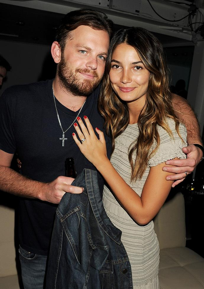 "**Lily Aldridge and Caleb Followill** <br><br> This stunning couple first met at Coachella in 2007, where Followill's band Kings of Leon were performing. Aldridge told Tatler, ""He was performing and as soon as I saw him, I couldn't stop thinking about him."" She later said to *The Edit*, ""We're so compatible; he's the coolest guy I've ever met, and my best friend."""