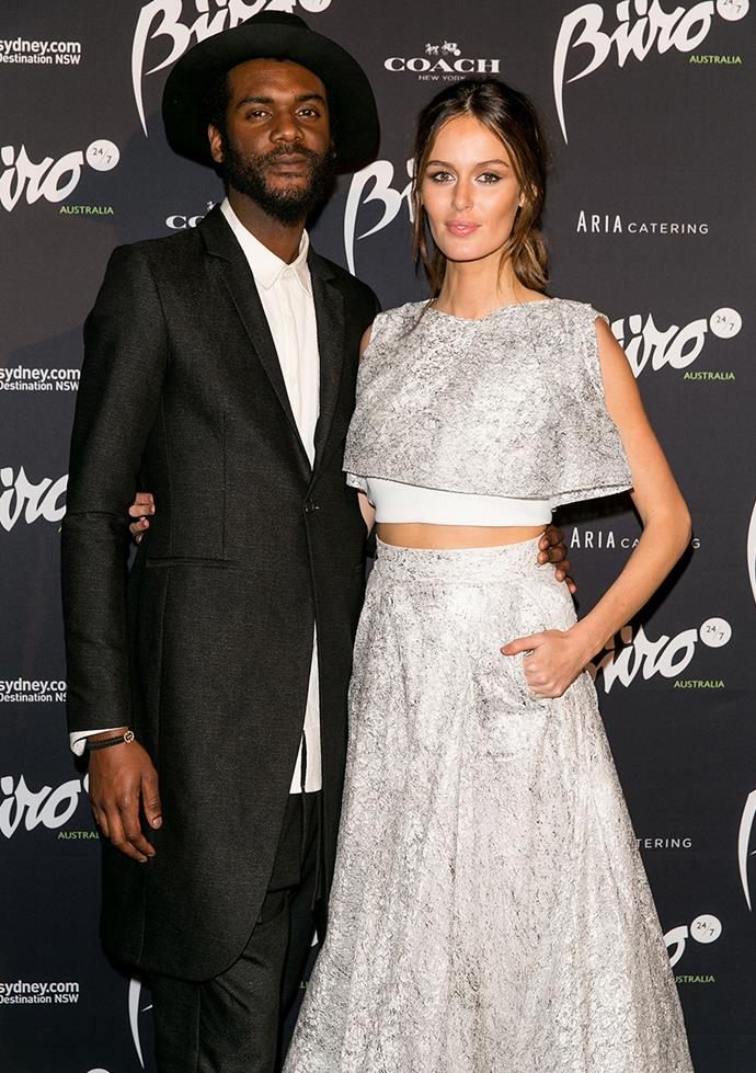 "**Nicole Trunfio and Gary Clarke Jr.** <br><br> These two also first met at Coachella in Palm Springs in 2012 and were married at the music festival this year. The Australian model says of her partner to *The Daily Telegraph*, ""He's the most spiritual person without being spiritual. He's taught me to be more in the moment and trust in the journey."""